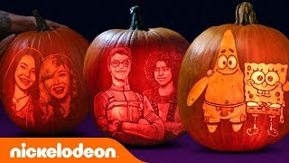 Halloween Pumpkin Carving w/ SpongeBob, Henry Danger, iCarly & More! 🎃 | Nick