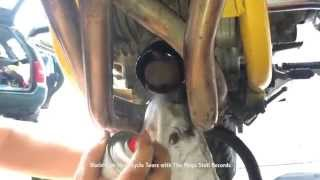 Oil change motorcycle, How to make