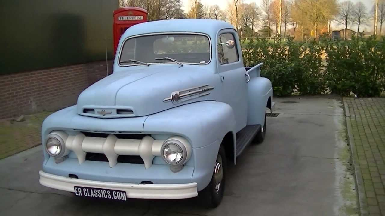 ford f1 pickup 1952 6 cylinder original video www. Black Bedroom Furniture Sets. Home Design Ideas