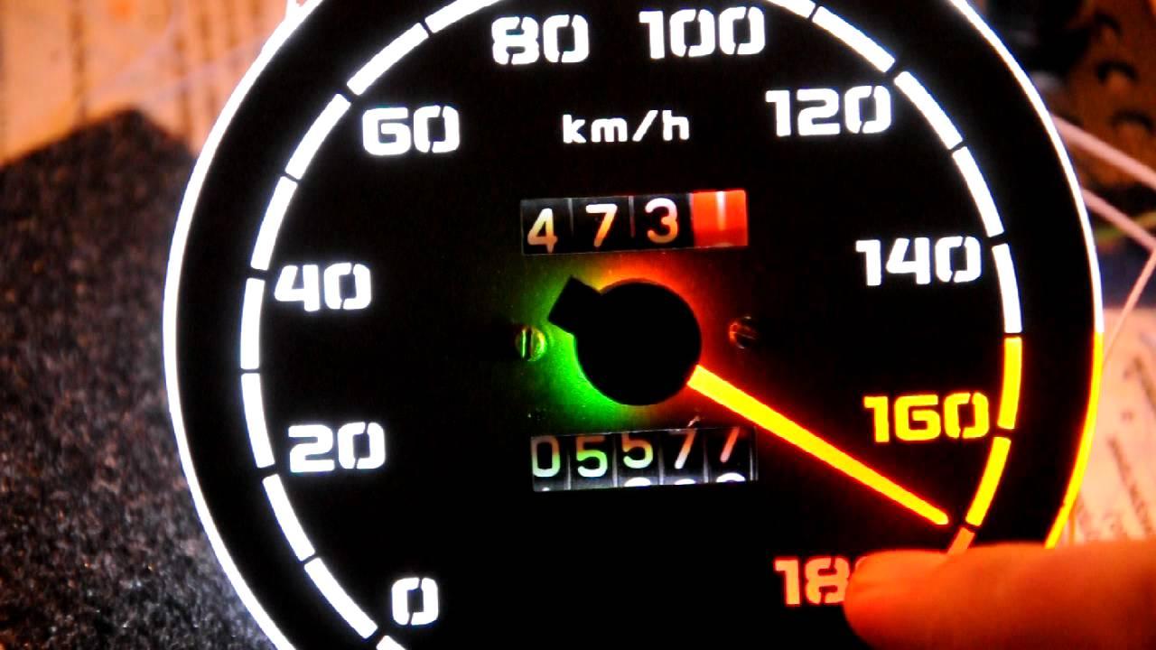 Как сделать спидометр на машине 245