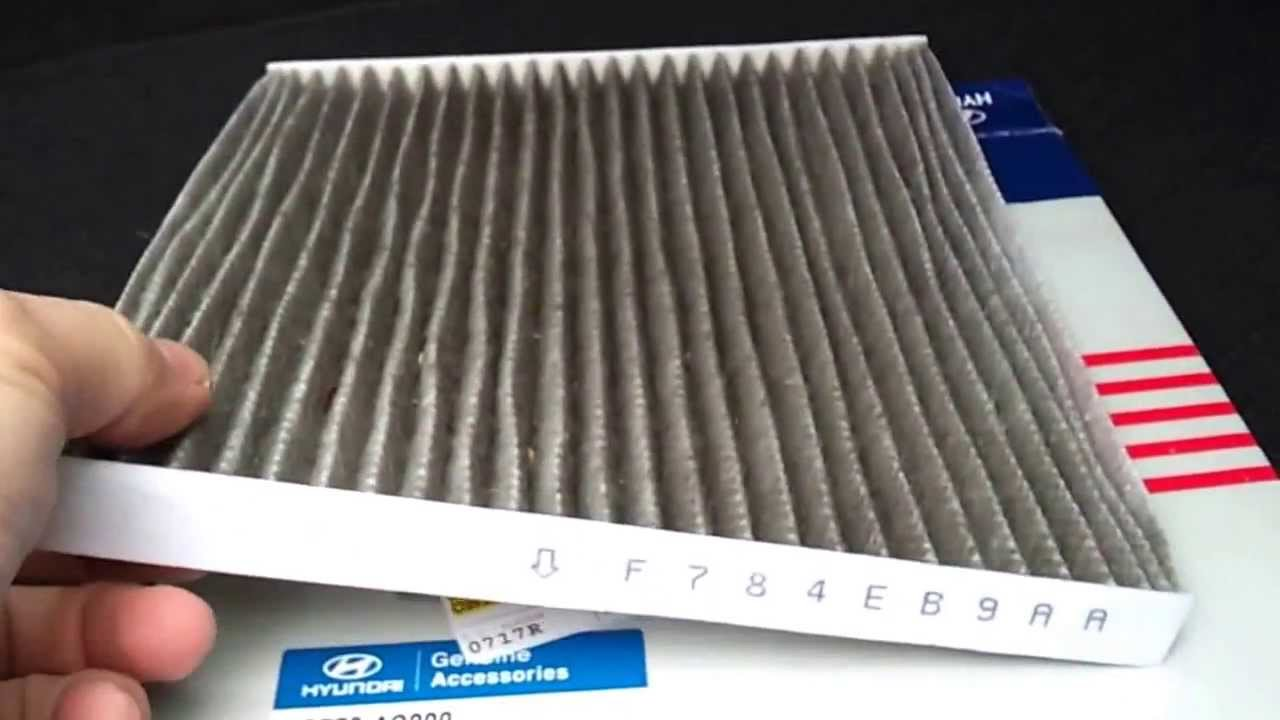 cabin air filter replacement hyundai santa fe 2013 youtube