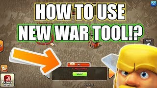 How to Use CLAN WAR TOOL In Clash of clans!!?