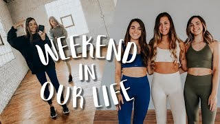 Weekend in our Life: photoshoot, recording videos, and going home