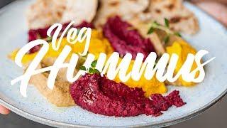 How To Make Amazing Vegetable Hummus 3 Ways. #spon