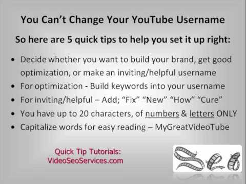 how to change your name on youtube account
