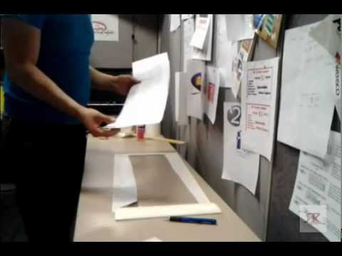 how to apply transfer tape to a large vinyl decal/ lettering