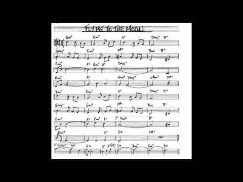 Fly Me To The Moon  - Play Along - Backing Track [3/4 Score] (Bb Key Score Trumpet/sax/clarinet)