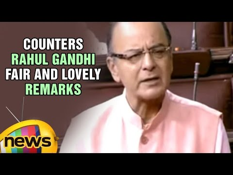 Arun Jaitley Speech In Rajya Sabha | Counters Rahul Gandhi Fair And Lovely Remarks | Mango News