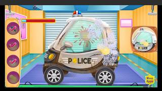 Baby Police Car Wash | Car Wash Game for Kids | Police Car Wash Video for Kids & Toddlers