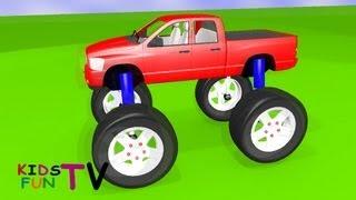 KidsFunTv Monster Truck : 3D HD Animation Video for Kids