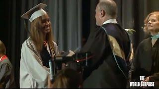 Soldier Surprises Little Sister at High School Graduation