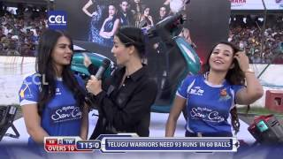 Sharmiela & Parvathy at Match Centre- CCL6 Finals || Telugu Warriors VS Karnataka Buldozers