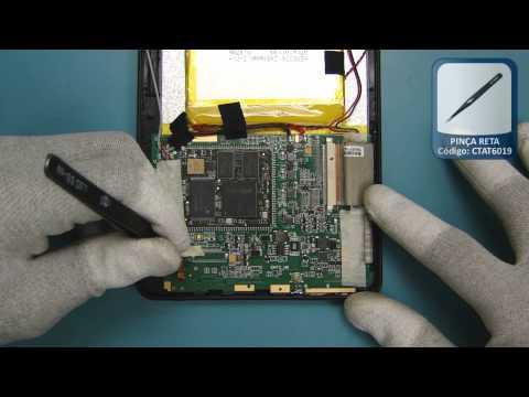 Tutorial de Desmontagem Tablet Coby Kyros - TELECELULA