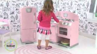 KidKraft Розова Ретро Кухня/KidKraft Pink Retro Kitchen от www.toytownbg.com