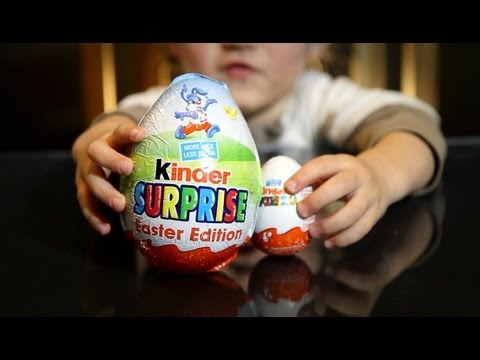 GIANT Kinder Surprise Egg - from Easter Edition - BIG Surprise - Video
