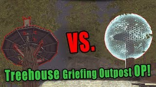 TREEHOUSE GRIEFING OUTPOST OP! | ARK Official Server