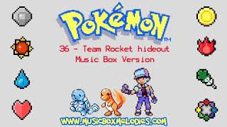 Team Rocket hideout (Music box version) - Pokemon red/blue OST