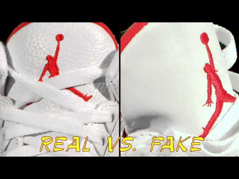 Real vs Fake Air Jordan III