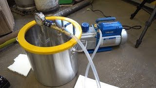 Vacuum experiments with our new vacuum pump