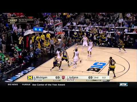 Michigan Vs. Indiana - 2016 Big Ten Men's Basketball Tournament