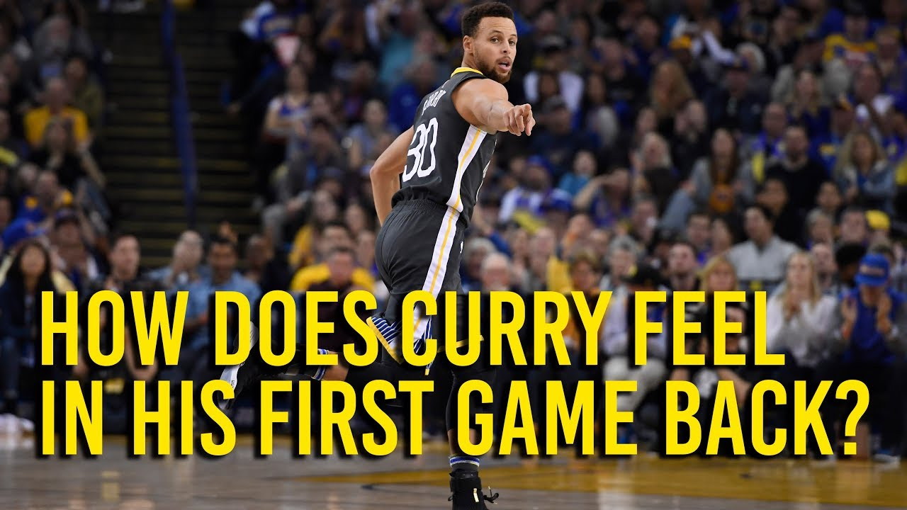 Stephen Curry on his first game back since ankle injury