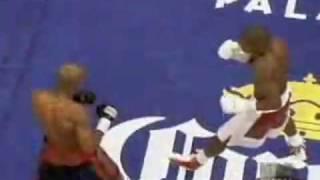Floyd Maywether knocked down