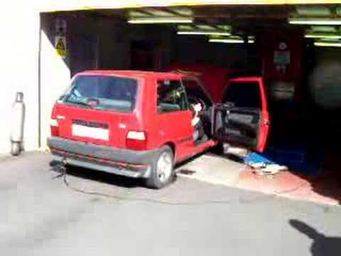 Fiat Uno Turbo Engine. Fiat Uno turbo on dyno