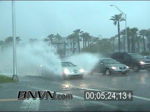 2/27/2005 Sarasota FL, Thunder Storm Dash Cam Video