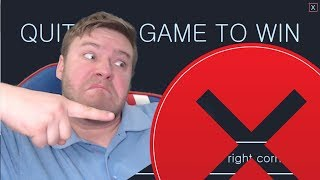 STRANGELY FUNNY | Quit the Game to Win.