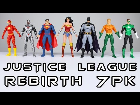 DC Icons JUSTICE LEAGUE REBIRTH 7 Pack Action Figure Toy Review