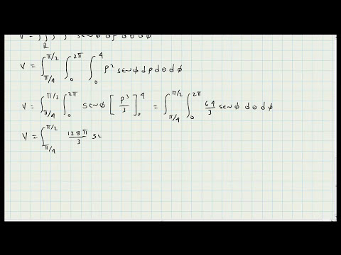 Aplicacion Integrales Triples - Coordenadas Esfericas - Calculo Integral - Video 110