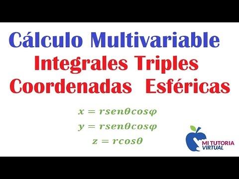 Aplicacion Integrales Triples - Coordenadas Esfericas - Calculo Integral - Video 110