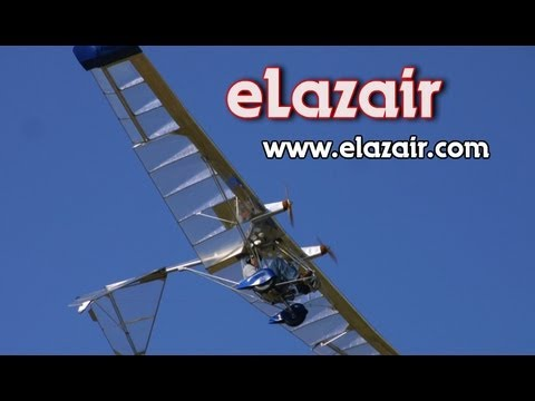 Electric powered ultralight aircraft, eLazair twin engine battery powered ultralight aircraft.