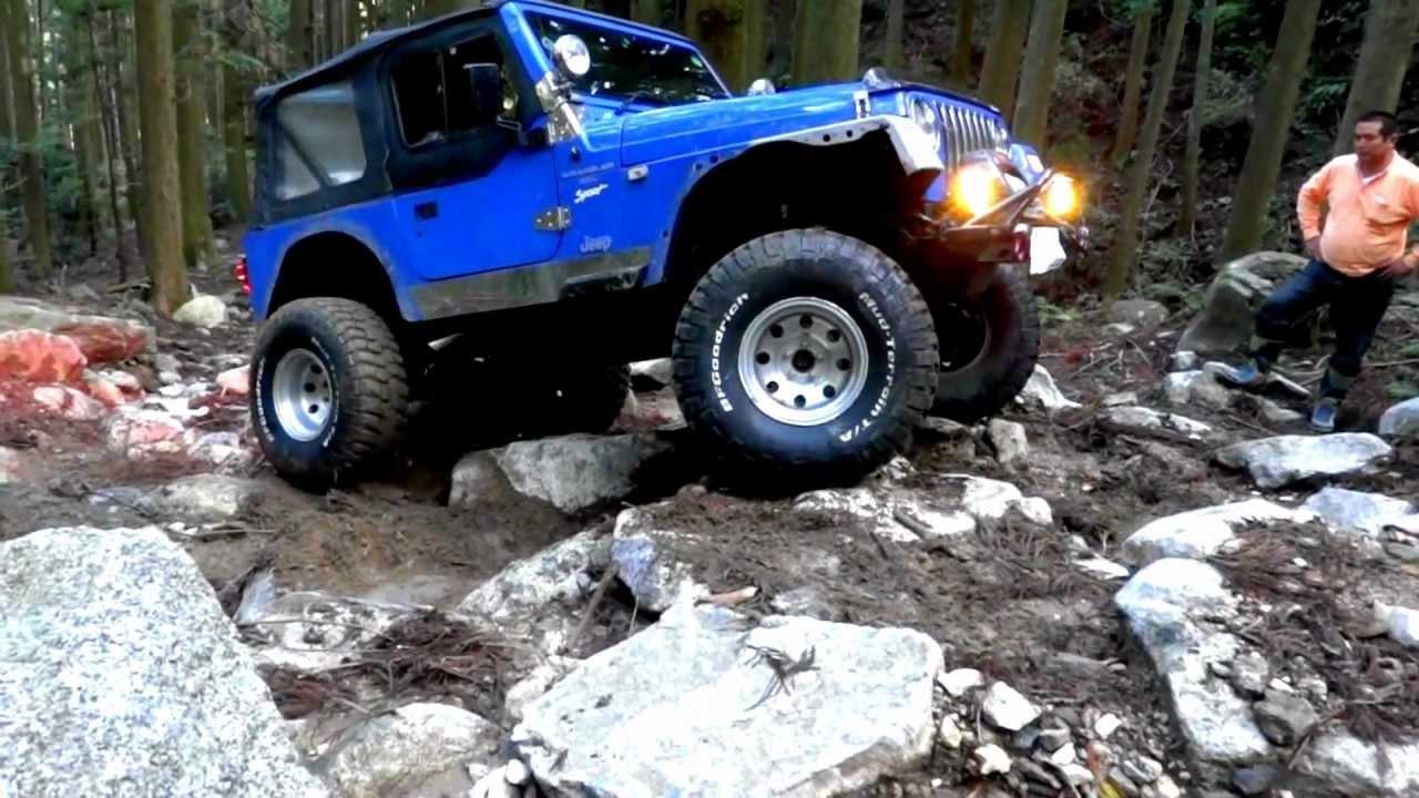 À�98》 Jeep 4x4 Tj Wrangler Jeep Trail Blue Youtube