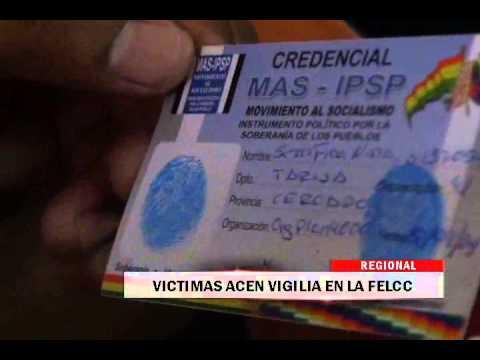 18/09/2014 - 13:31 VICTIMAS HACEN VIGILIA EN LA FELCC