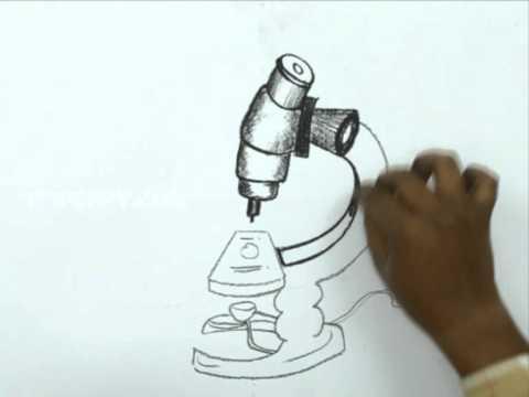 Видео как нарисовать микроскоп