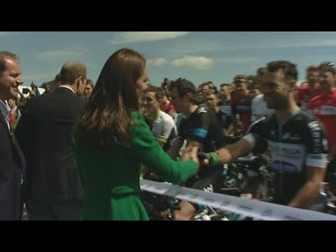 Duke and Duchess of Cambridge launch Tour de France in Yorkshire