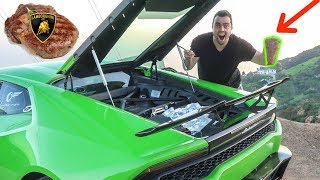 I COOKED A STEAK WITH MY LAMBORGHINI AND IT ACTUALLY WORKED!