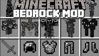 Minecraft BEDROCK MOD / TRAVEL TO BEDROCK DIMENSION AND SURVIVE THE CREATURES!! Minecraft