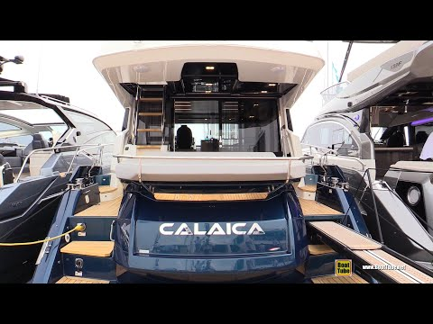 2019 Cranchi E56 F Evoluzione - Deck and Interior Walkaround - 2018 Cannes Yachting Festival