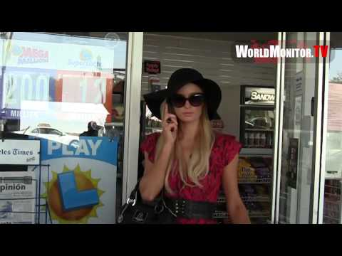 Paris Hilton followed by paparazzi all day in LA as she shops with sister Nicky Hilton