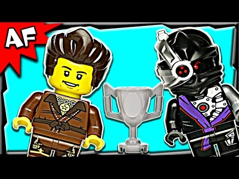 Brown Ninja Dareth Vs Nindroid 5002144 Lego Ninjago Stop Motion Set Review video