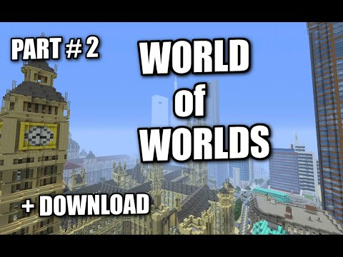 Minecraft PS3 - WORLD OF WORLDS #2 - EPIC MAP DOWNLOAD + REVIEW ( PS4 / XBOX )