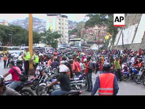 Moto taxi and delivery drivers protest restrictions aimed at reducing crime