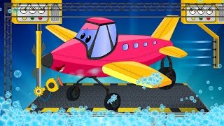 Aeroplane | Kids Car Wash | Cartoon Vehicles For Children