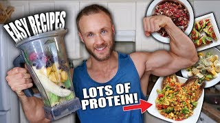 FULL DAY OF EATING | PLANT PROTEIN FOR MUSCLES!