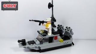 Lắp ráp tàu chiến bắn súng Lego đồ chơi trẻ em battleship brick toy for kid
