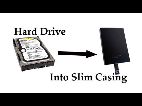 How to put xbox hard drive into Slim casing
