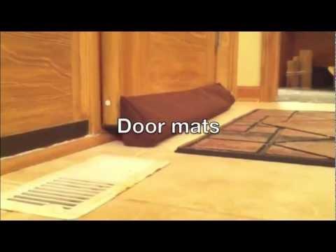 Evelots evelots magnetic clip on door draft stopper cold for Door air blocker