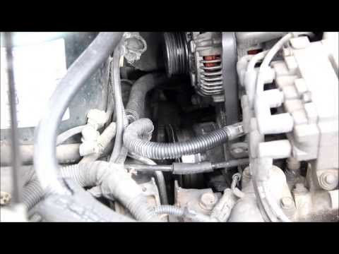 How to change a serpentine belt on a Dodge Caravan. Voyager and Town & Country